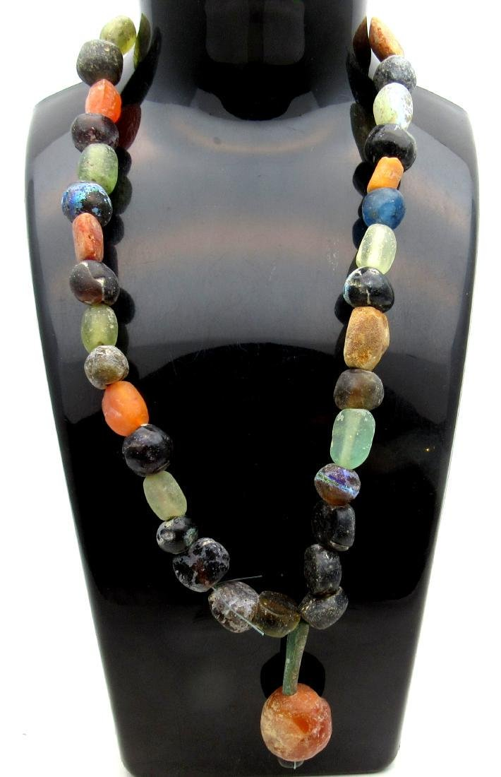 Medieval Viking Era Necklace with 40 Glass Beads
