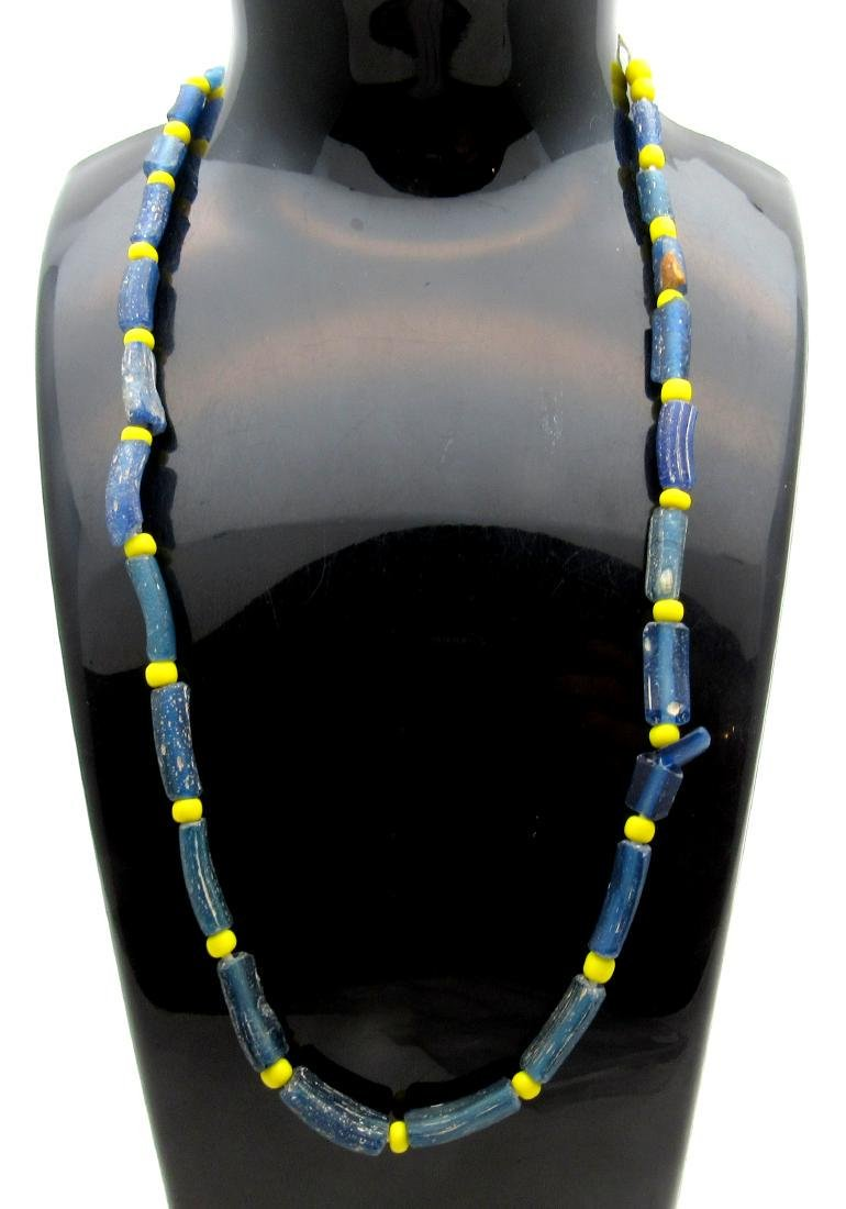 Medieval Viking Era Necklace with 25 Glass Beads