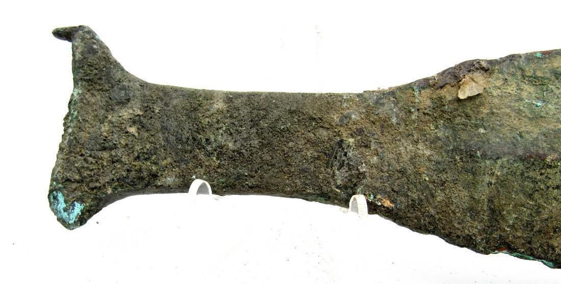 Ancient Greek Bronze Sword with Handle - 4
