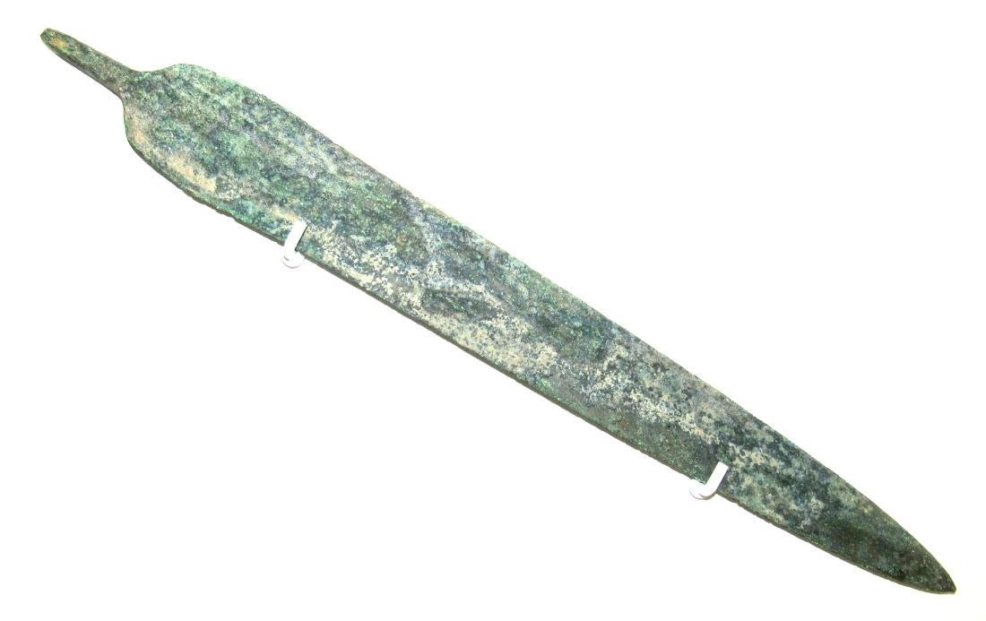 Ancient Greek Bronze Sword with Blood Grooves