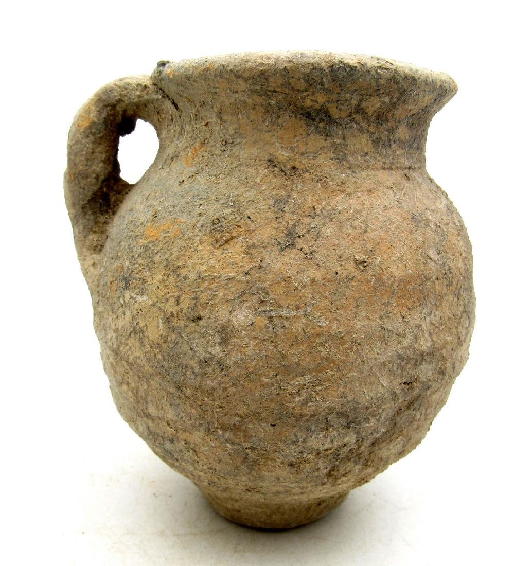 Ancient Roman Terracotta Urn / Cup with Handle