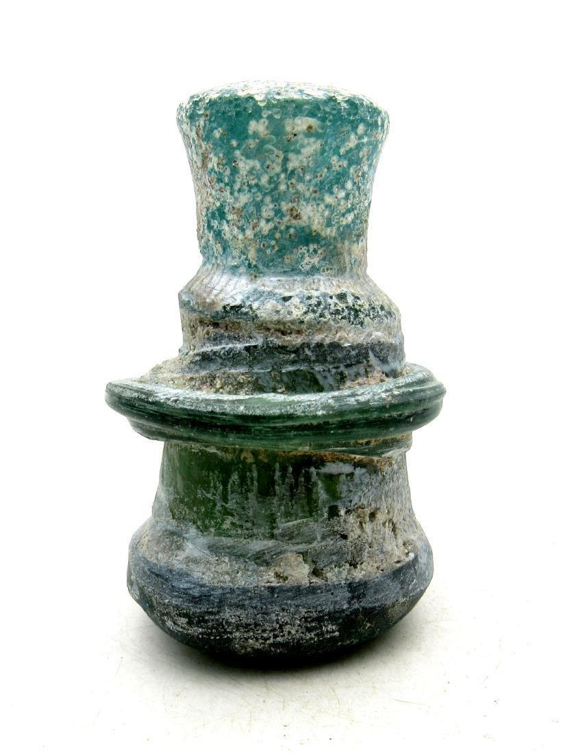 Early Medieval Byzantine Glass Flask