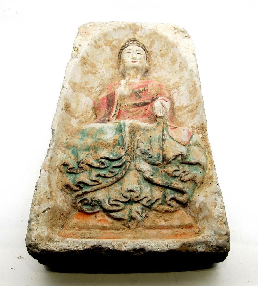 Chinese Northern Wei Buddha temple brick