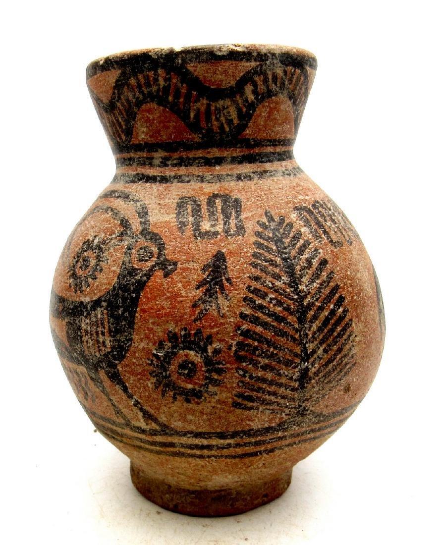 Ancient Indus Valley Terracotta Jar with Deer Motif - 2