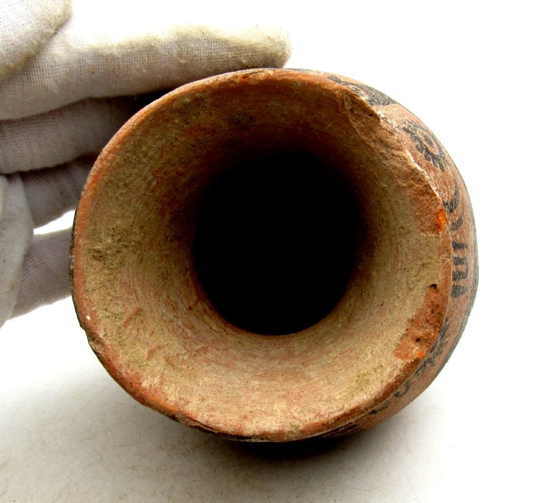 Ancient Indus Valley Terracotta Jar with Deer Motif - 3