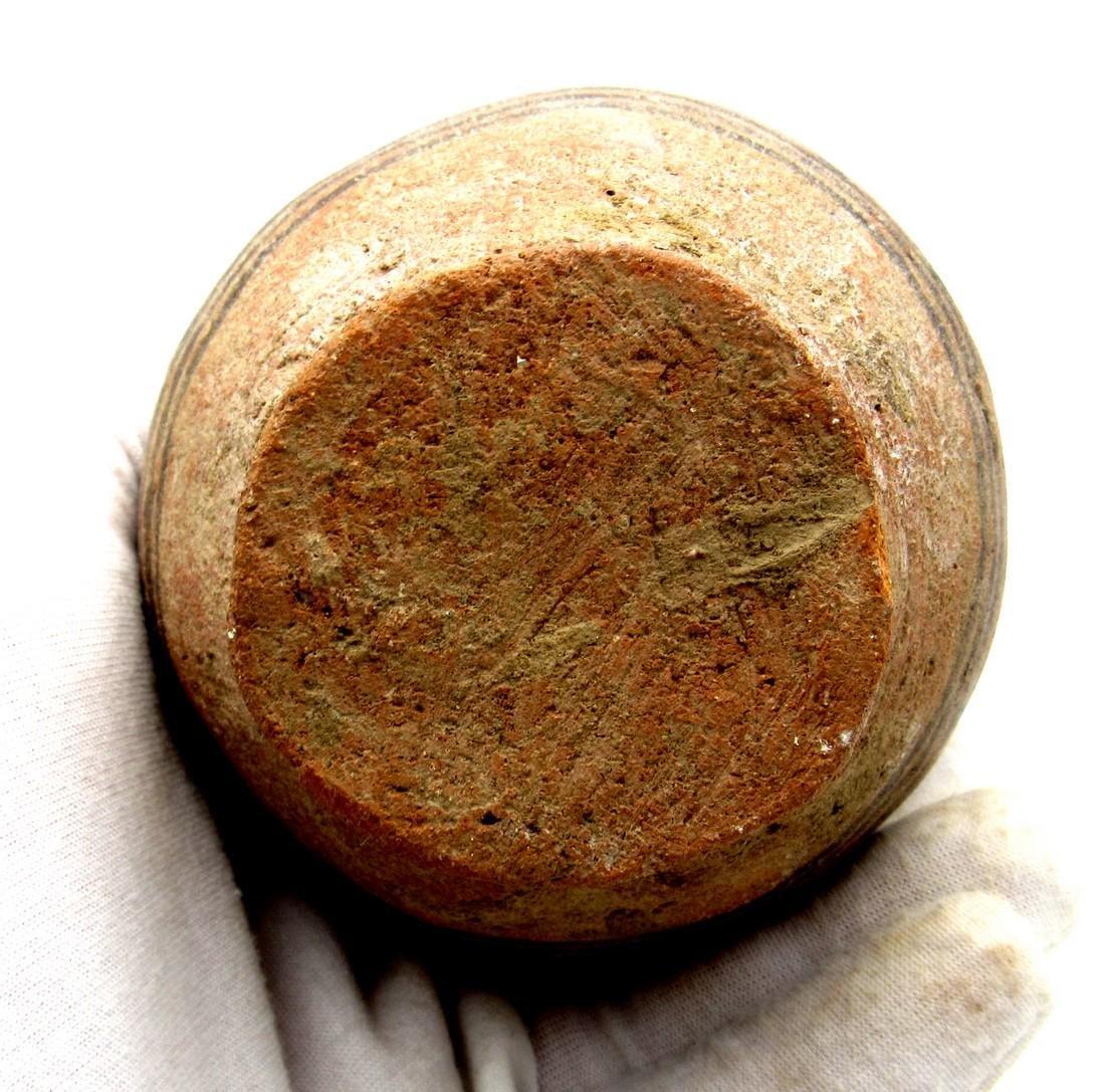 Ancient Indus Valley Terracotta Jar with Deer Motif - 4
