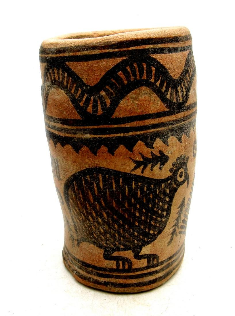 Ancient Indus Valley Terracotta Cup with Bird Motif - 2