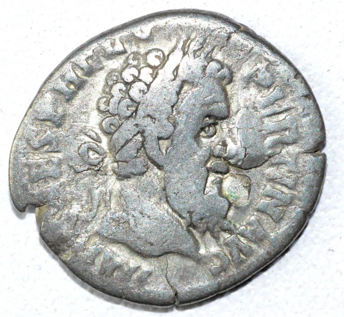 Rare Ancient Roman Denarius Coin - Pertinax