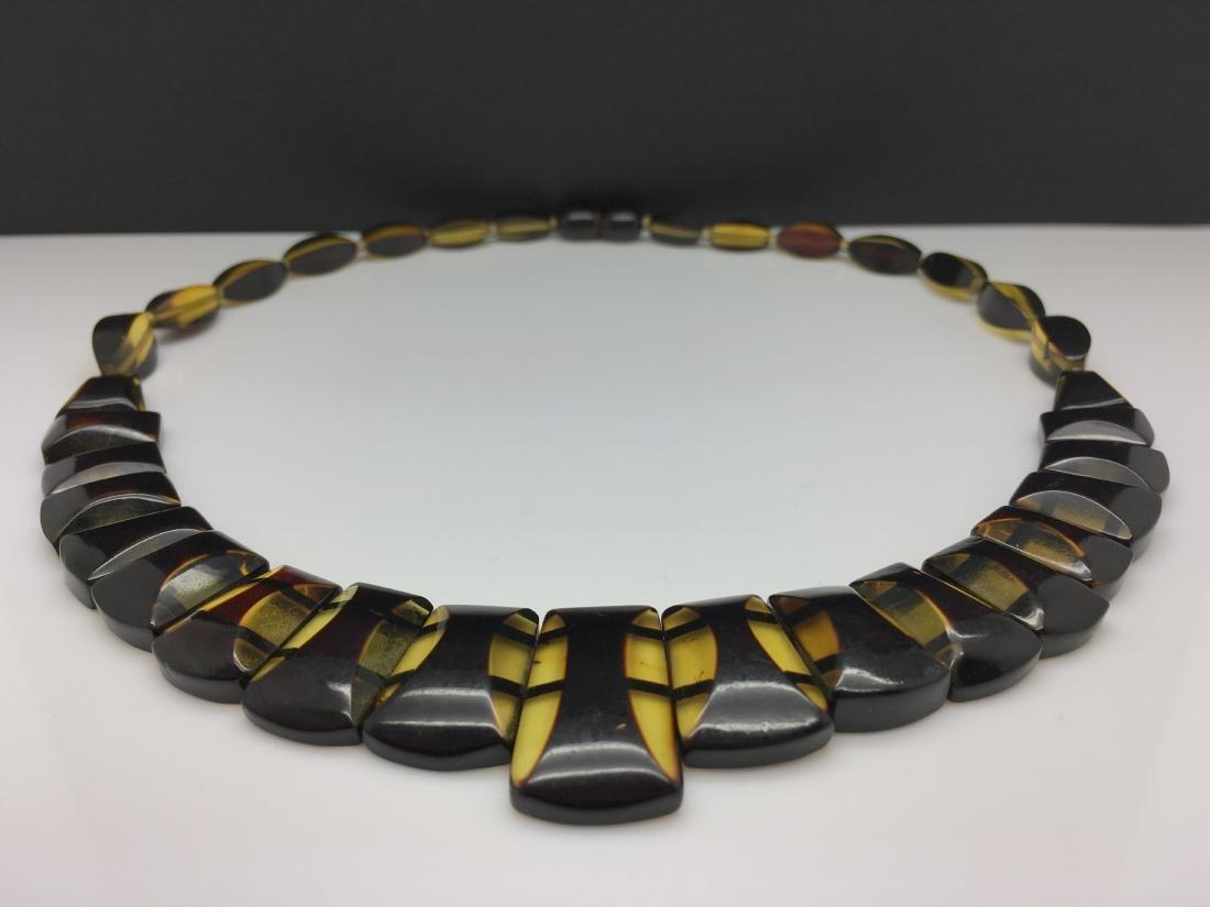 Natural Baltic Amber necklace lemon cherry colour