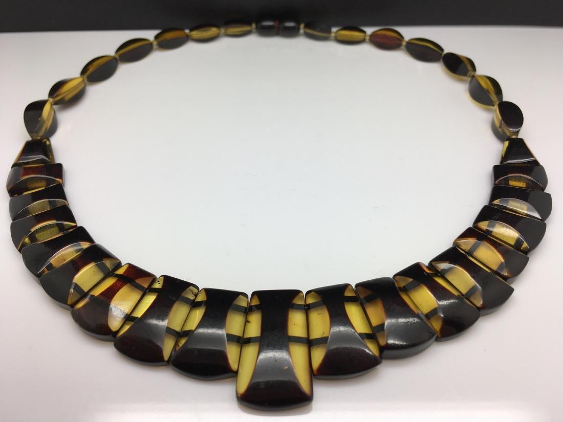 Natural Baltic Amber necklace lemon cherry colour - 2