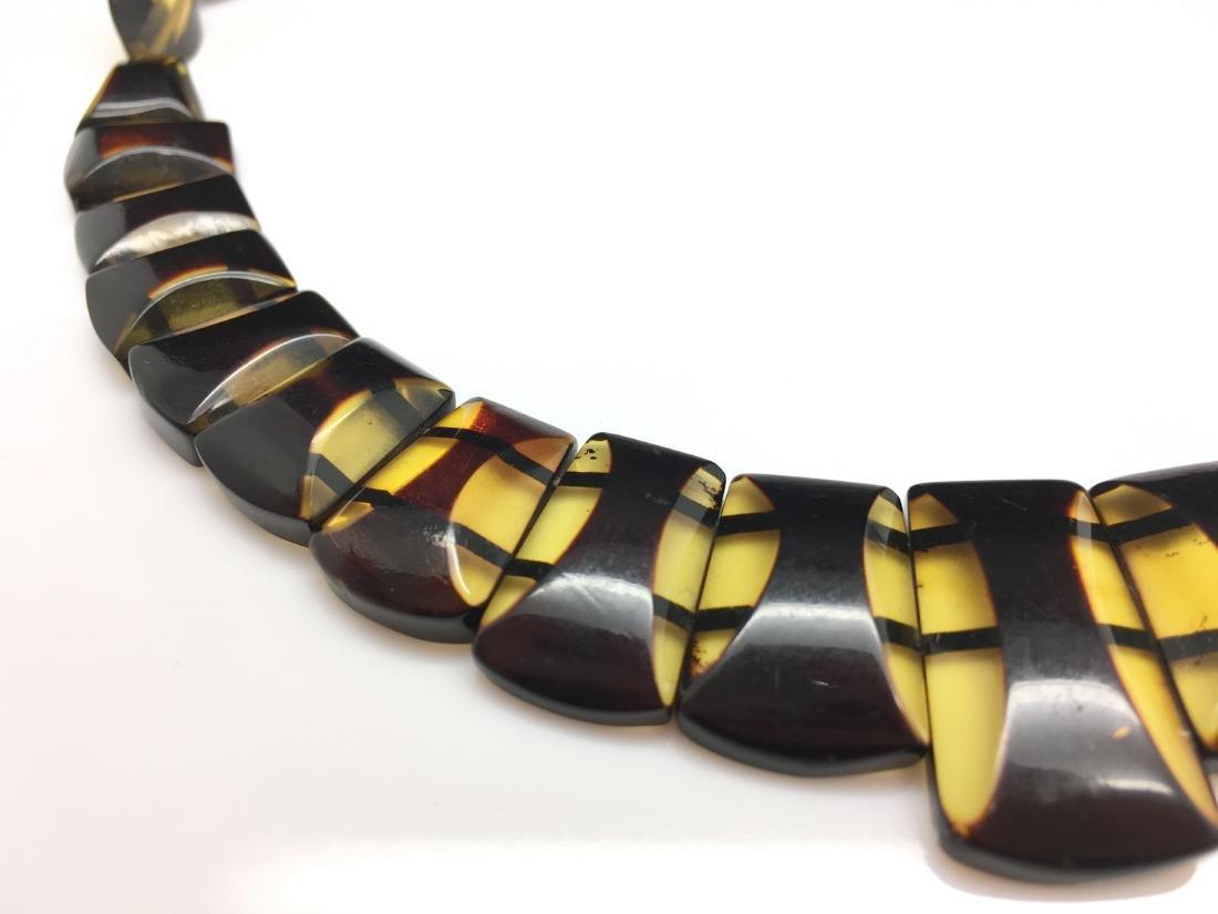 Natural Baltic Amber necklace lemon cherry colour - 3