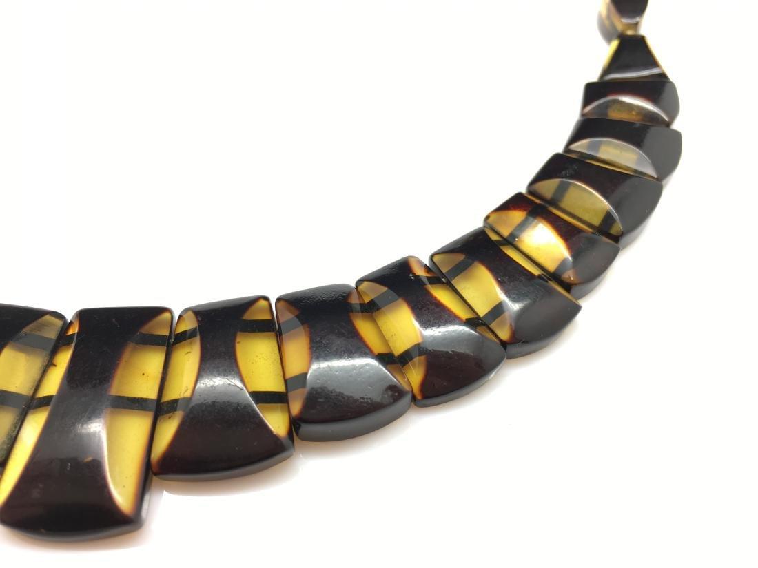 Natural Baltic Amber necklace lemon cherry colour - 4
