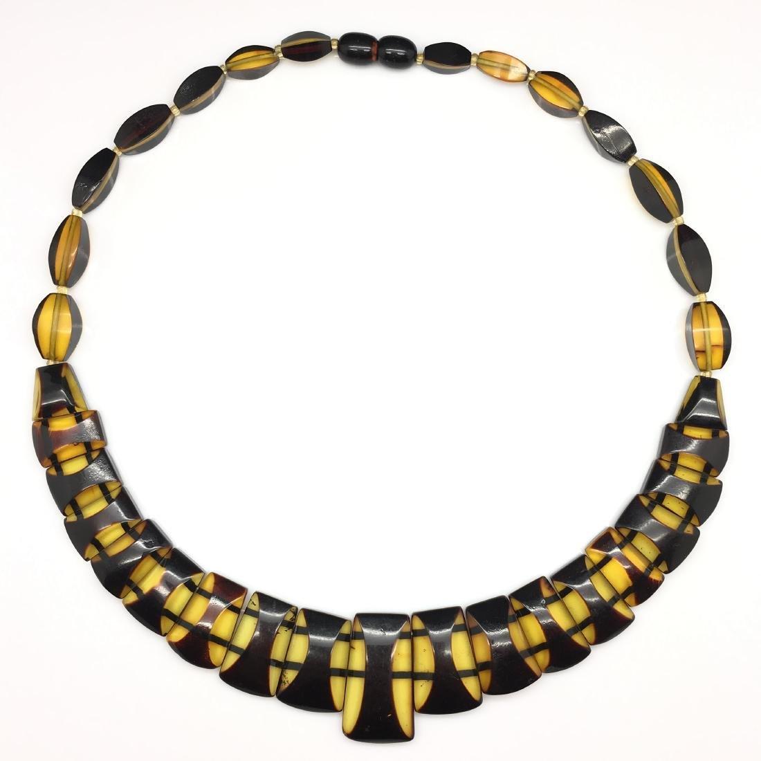 Natural Baltic Amber necklace lemon cherry colour - 5