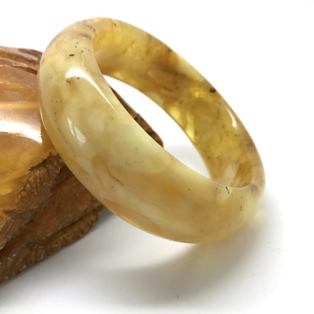 Baltic amber cut bangle bracelet 85x23mm, 49.2 gr
