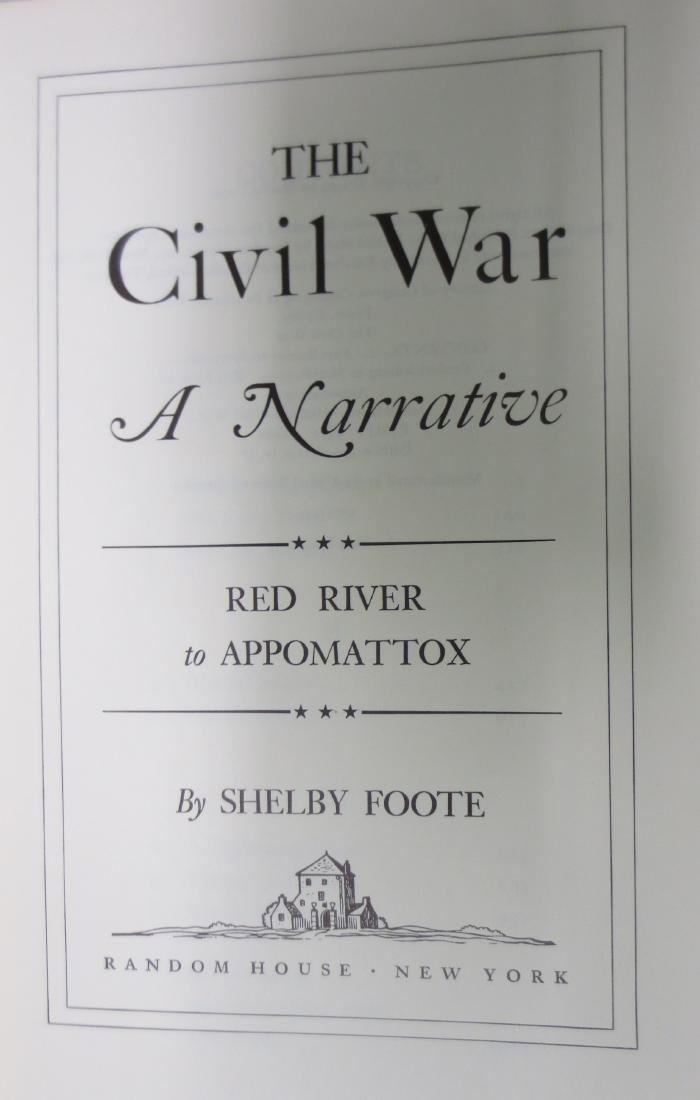 The Civil War; A Narrative Red River to Appomattox - 2