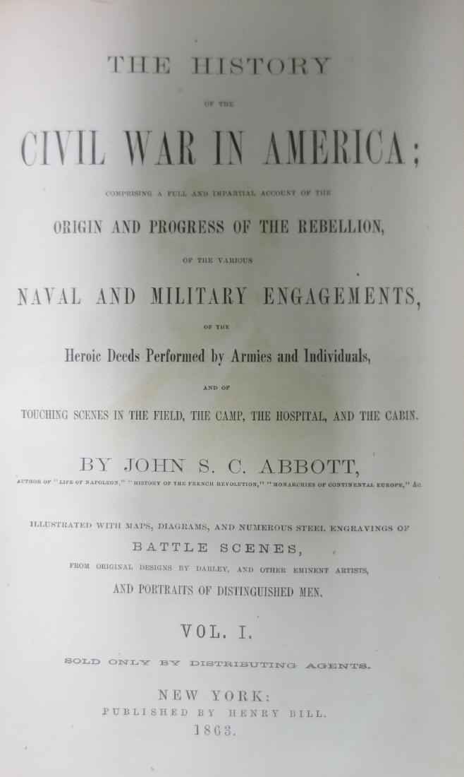 History of the Civil War in America Volumes 1 & 2 John - 2
