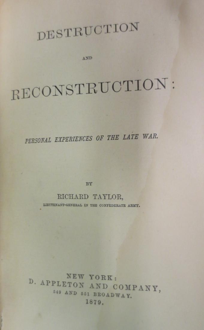 Destruction and Reconstruction Richard Taylor - 2