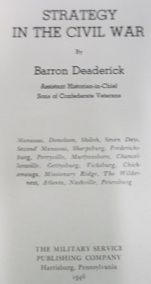Strategy in the Civil War John Barron Deaderick - 2