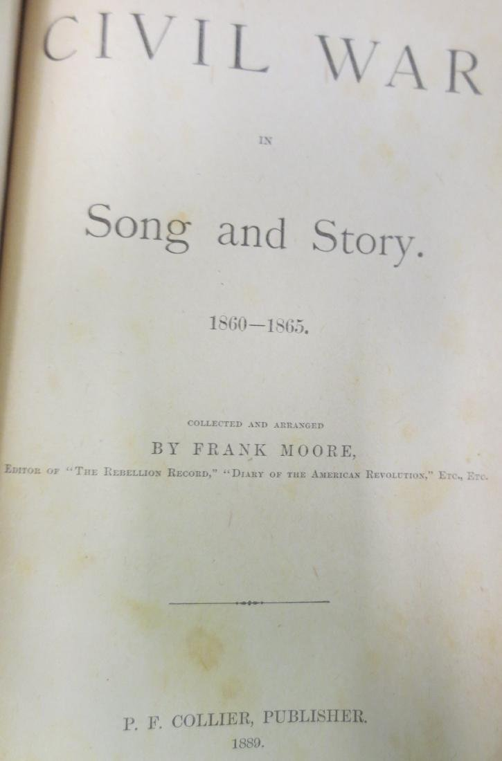 Civil War in Song and Story 1860-1865 Frank Moore - 2