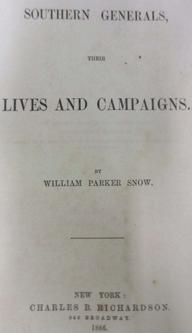 Southern Generals Their Lives and Campaigns William - 2