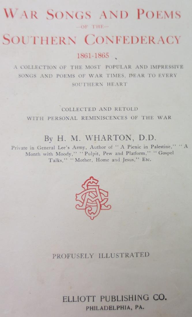 War Songs and Poems of the Southern Confederacy - 2