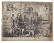 1798 Gillray Engraving English Political Cartoon