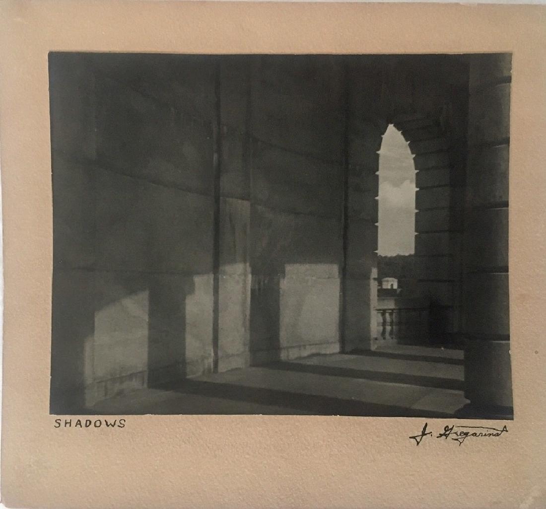 """Antique Original Photograph """"Shadows"""" Signed"""