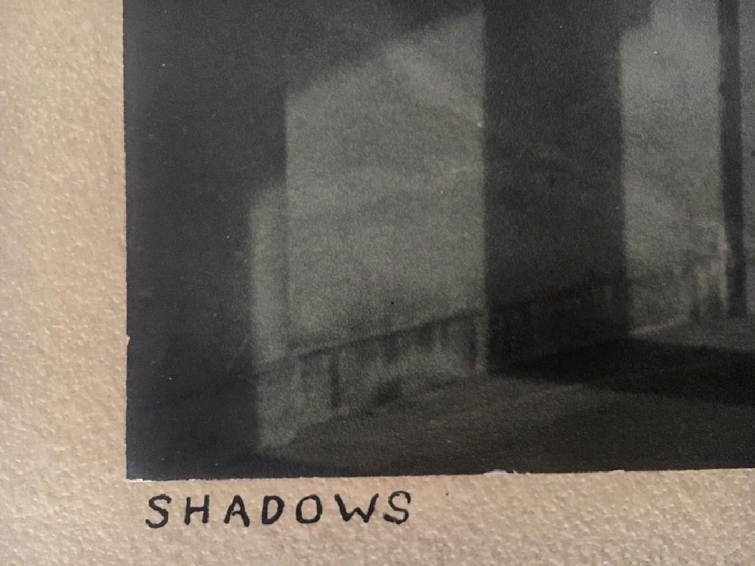 """Antique Original Photograph """"Shadows"""" Signed - 3"""