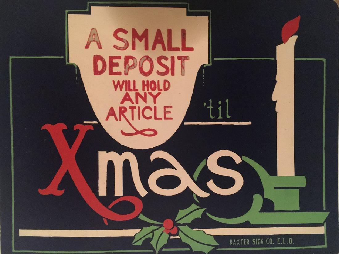 Vintage Department Store Display Sign from