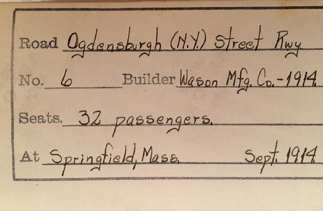 1914 No.6 Train for 32 Passengers, builder Wason Mg. - 2