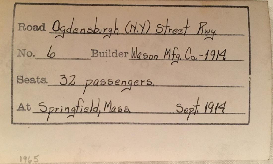 1914 No.6 Train for 32 Passengers, builder Wason Mg. - 3