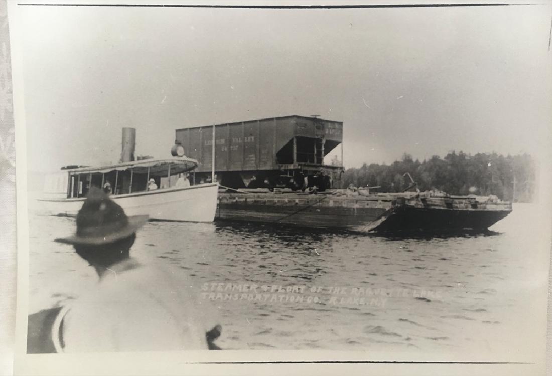 Antique Vintage Original Photograph-Steamer & Flort