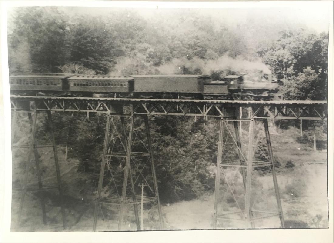 Vintage Original Railway Photography-Train through