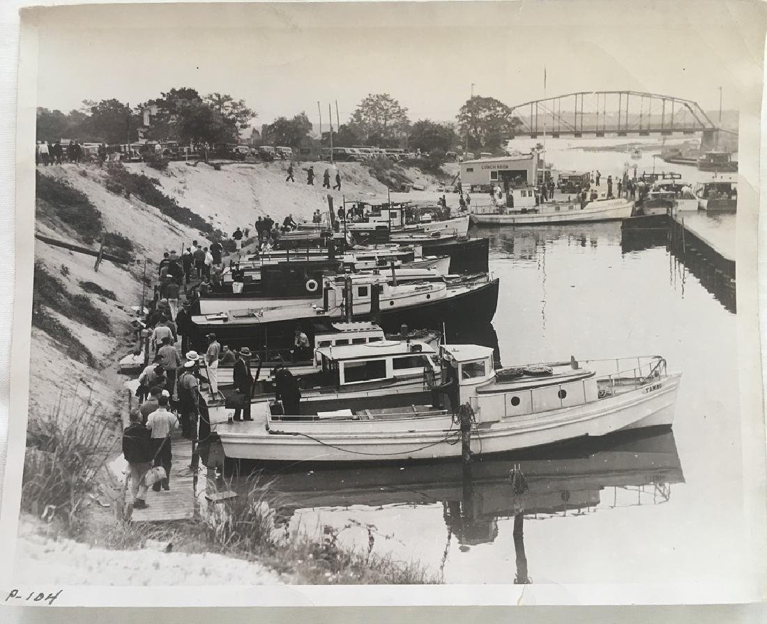 Antique Vintage Original Railway Photography-Dock