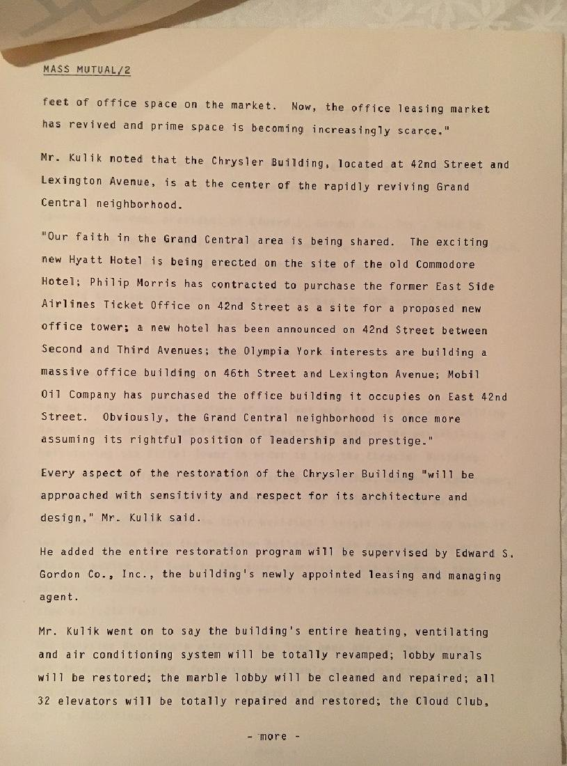 1978 The Chrysler Building Press Information - 5