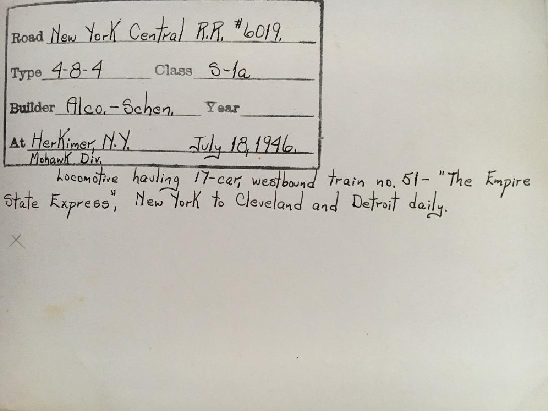 New York Centrlal R.R. #6019 4-8-4 of 1926 - 2