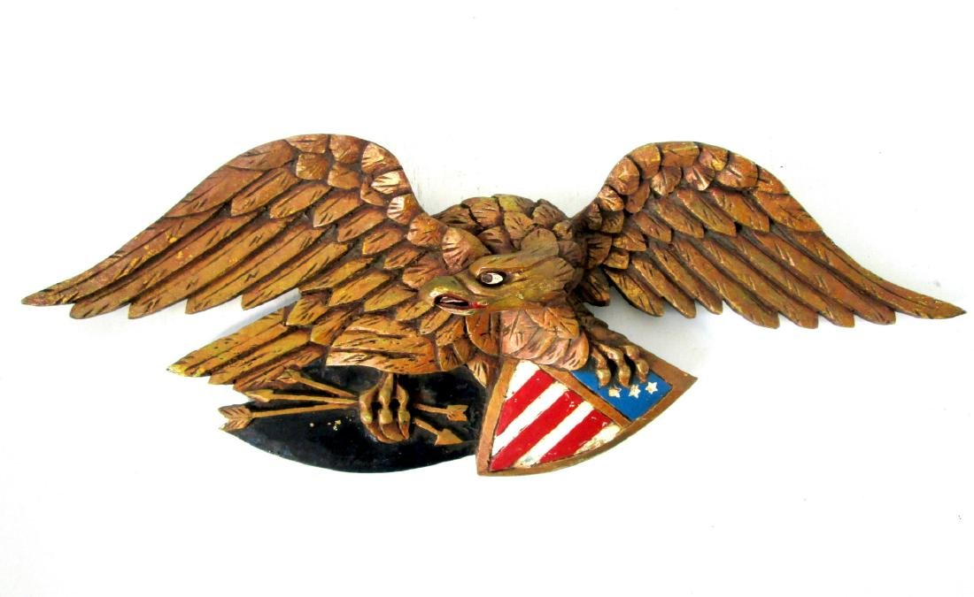 Painted Eagle Wall Plaque