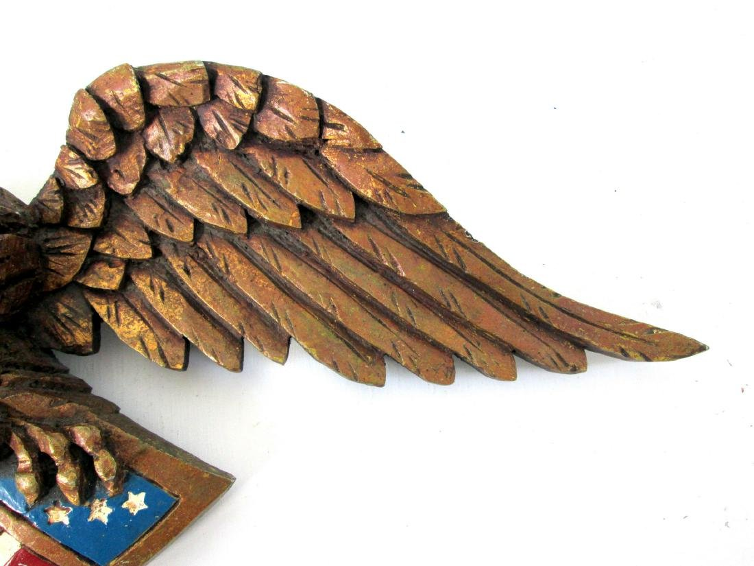 Painted Eagle Wall Plaque - 3