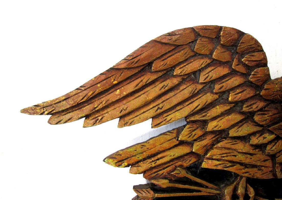 Painted Eagle Wall Plaque - 4