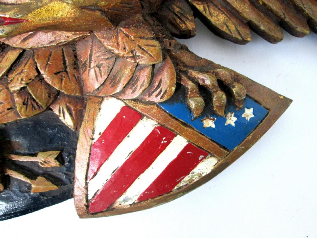 Painted Eagle Wall Plaque - 6
