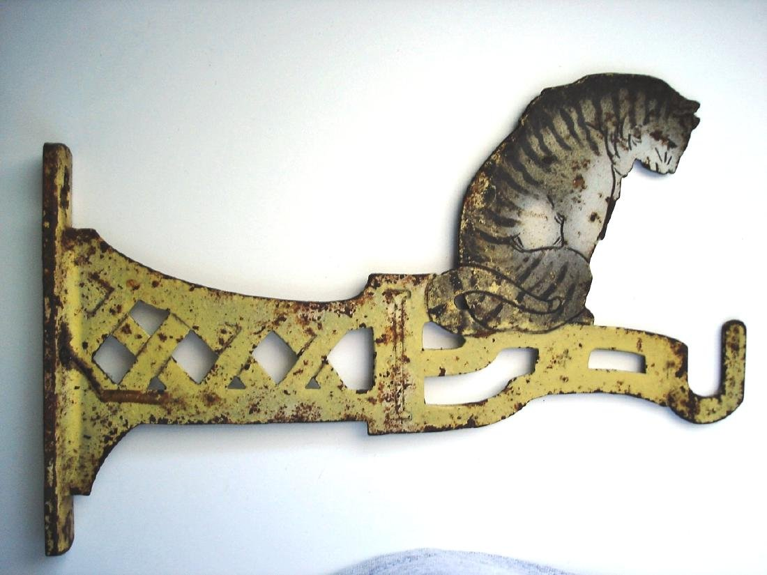 Tabby Cat Plant Hanger in Original Paint