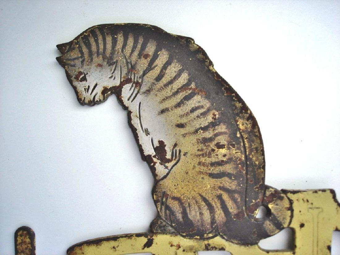 Tabby Cat Plant Hanger in Original Paint - 4
