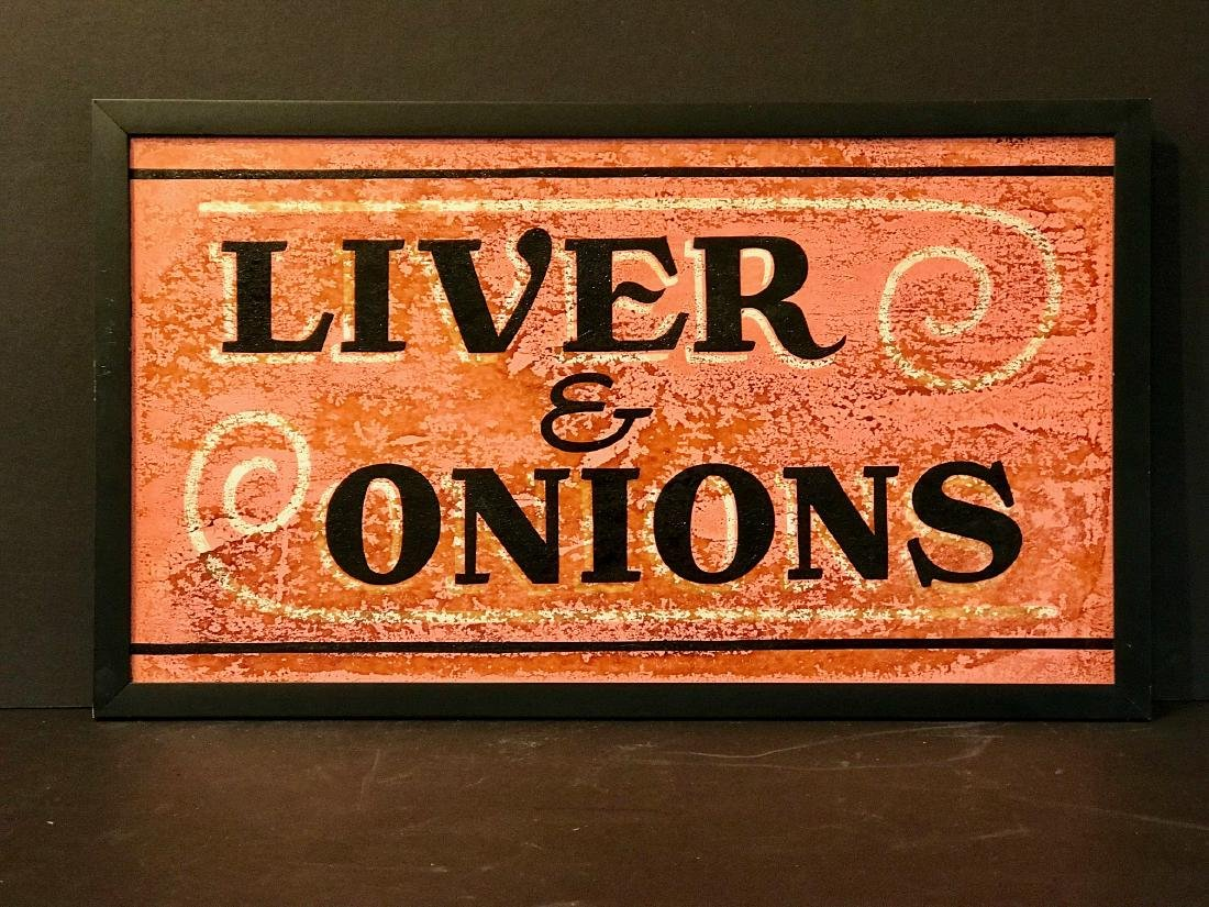 Liver & Onions Diner Sign, Mid 20th Century - 2