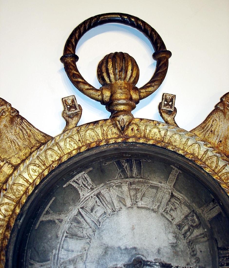 Rare Cast Iron Father Time Clock Trade Sign - 5