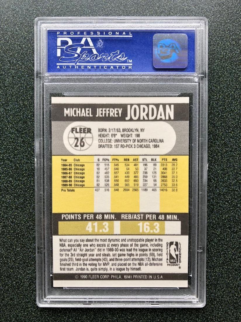 1990 Fleer Michael Jordan #26 PSA GEM 10 - 2