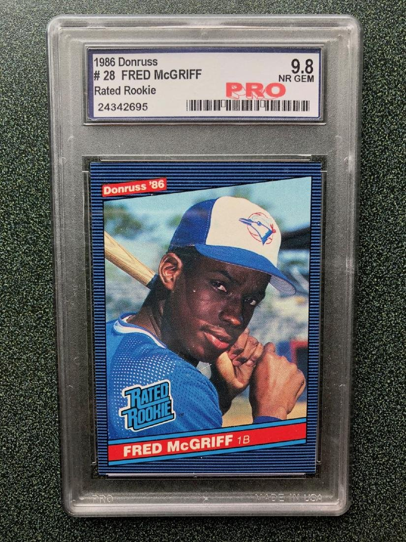 1986 Donruss Rated Rookie 28 Fred Mcgriff Pro 98 May 09 2018