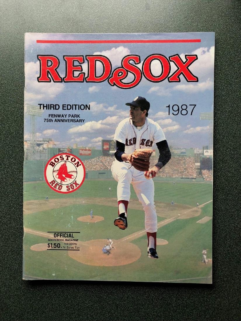 1987 Boston Red Sox Official Scorebook
