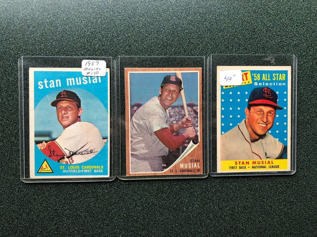 3 Stan Musial Cards