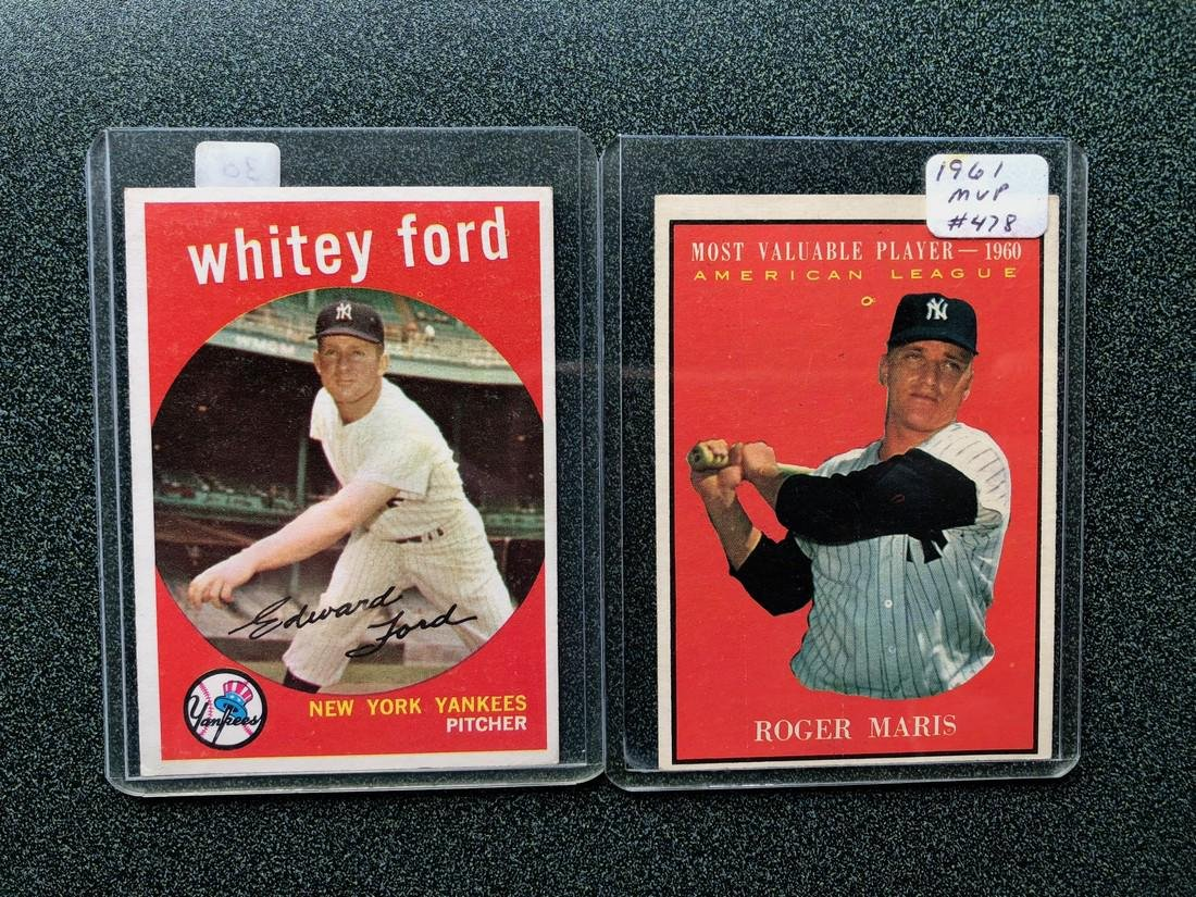 1961 Whitey Ford & Roger Maris Cards