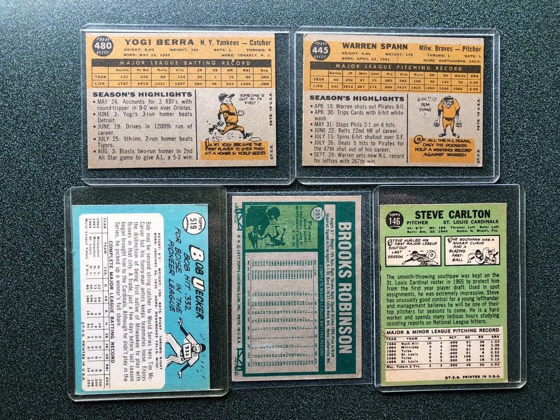 5 Nice Cards: Berra - Spahn - Uecker - Robinson - - 2